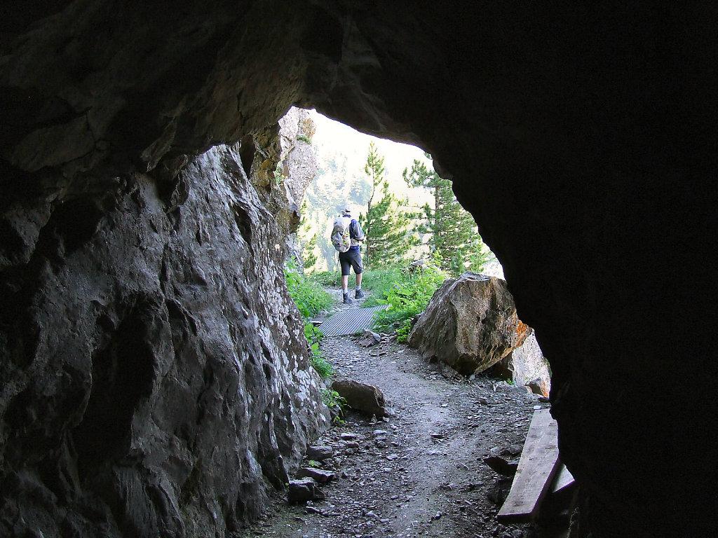 Sur le sentier, avant d'arriver au col d'Hurtière.